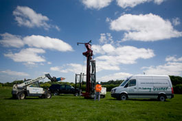 Picture of borehole drilling equipment and machinery
